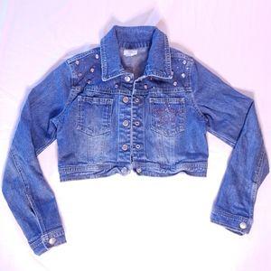 Libby Lu | Girl's Embellished Cropped Jean Jacket